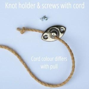 stainless steel ring pull - cream ribbon